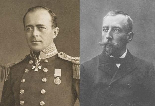 Robert Scott et Roald Amundsen